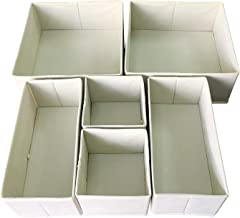 Sodynee FBA_SCD6SBE Foldable Cloth Storage Box Closet Dresser Organizer Cube Basket Bins Containers Divider with Drawers f...