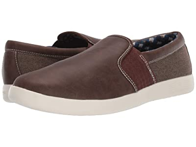 Ben Sherman Parnell Gingham Slip-On (Brown PU/Canvas) Men
