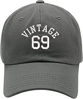 50th Birthday Vintage 69 Embroidered Low Profile Soft Crown Unisex Baseball Dad Hat