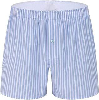 Men Underwear Boxers Plaid Loose Shorts Men Panties Cotton Soft Large Arrow Pants at Home Underwear Classic Basics Men Pajamas Light Blue