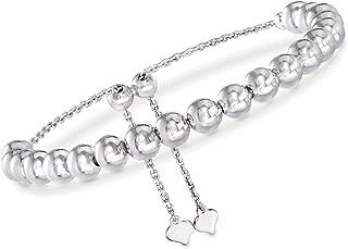 Ross-Simons 6mm Sterling Silver Bead Bolo Bracelet