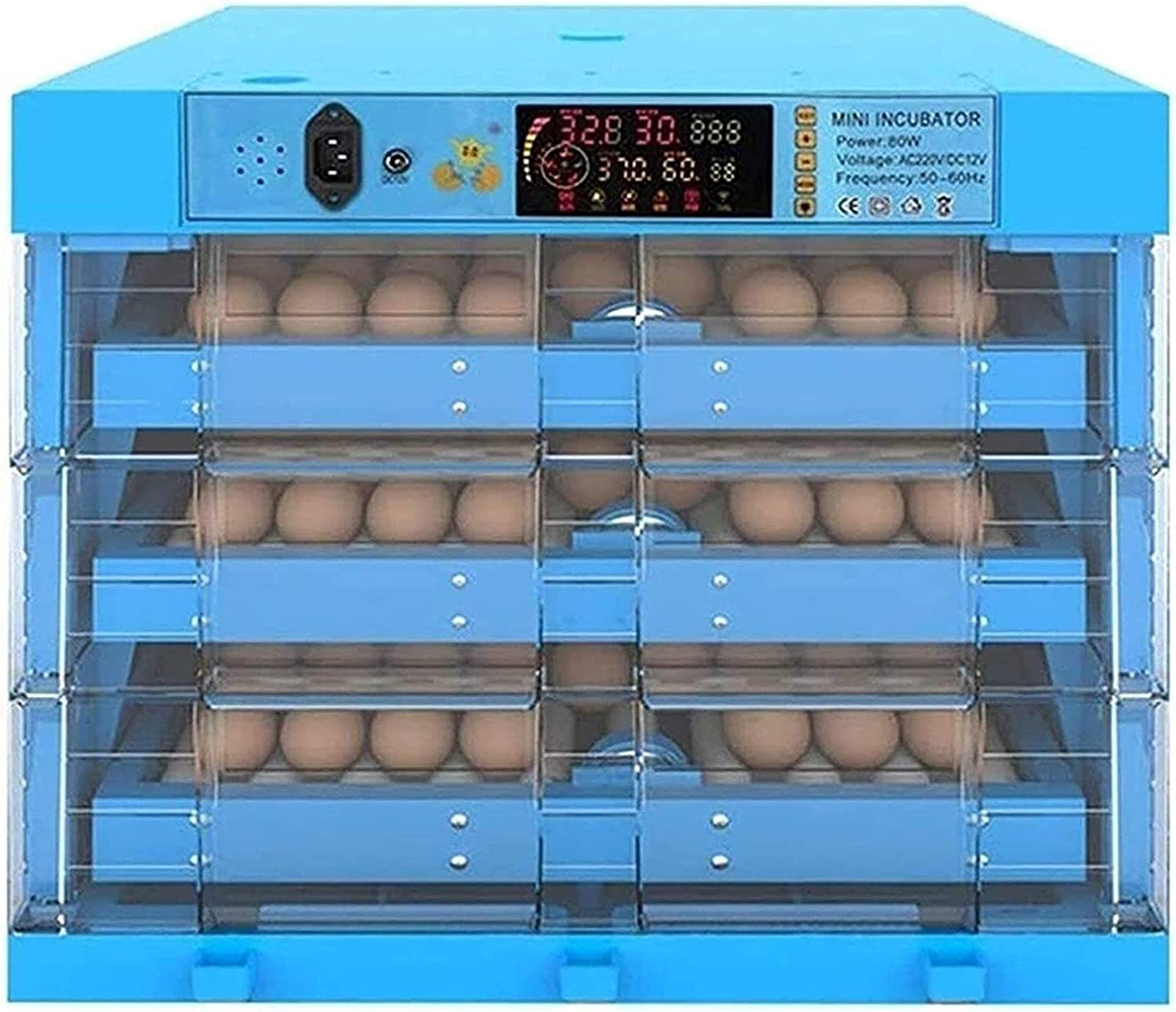 New arrival WENZHE Egg Incubator with Automatic 3 Layer Turning Omaha Mall Hatc
