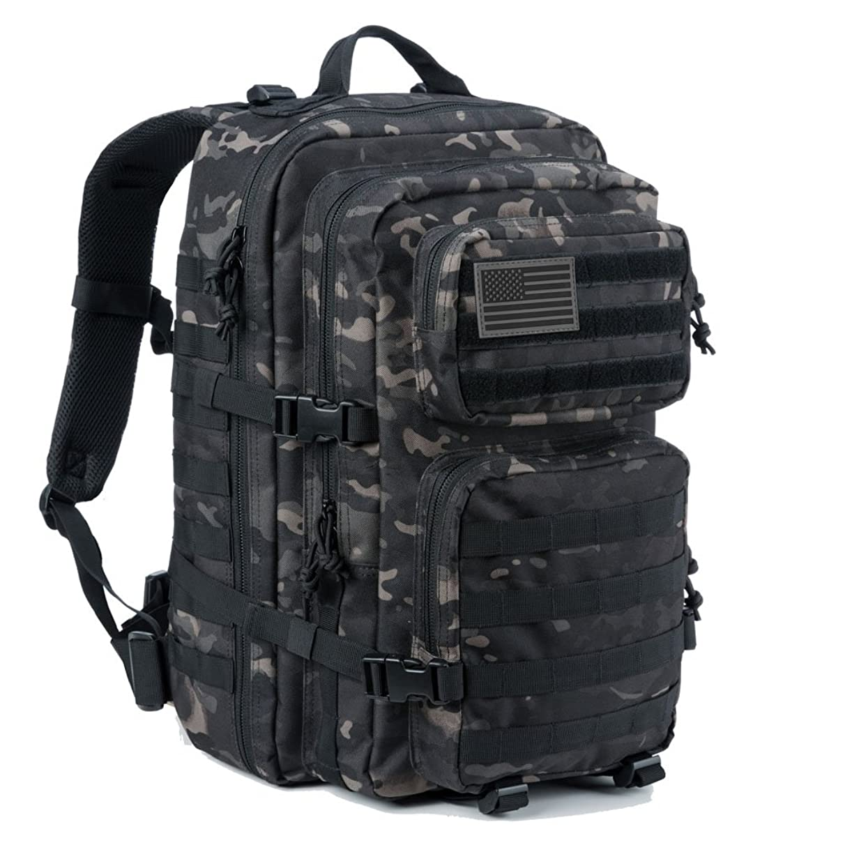 REEBOW GEAR Military Tactical Backpack Large Army 3 Day Assault Pack Molle Bug Out Bag Backpack Rucksacks for Outdoor Hiking Camping Trekking Hunting