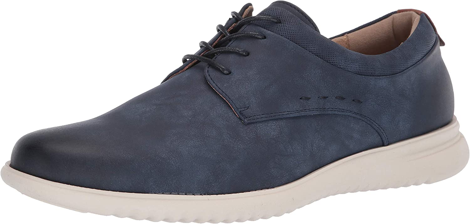 Unlisted by Kenneth Cole Men's Nio Lace Up Pt Oxford, Navy, 7