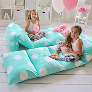 Butterfly Craze Girl's Floor Lounger Seats Cover and Pillow Cover Made of Super..