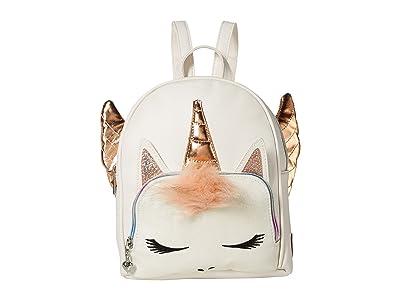 OMG! Accessories Winged Unicorn Mini Backpack (White) Backpack Bags