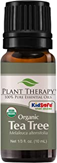 Plant Therapy Organic Tea Tree Oil (Melaleuca) 100% Pure, USDA Certified Organic, Undiluted, Natural Aromatherapy, Therape...