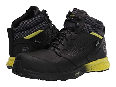 Timberland PRO Reaxion Mid Composite Safety Toe Waterproof (Black/Yellow) Men