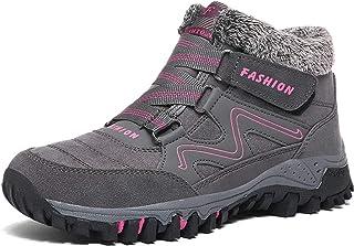Mujer Botas de Nieve Senderismo Invierno Calentar Forrada Zapatos Impermeables Deportes Trekking Zapatos Sneakers