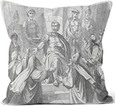 Nine City Pilate Condemned Jesus (Matthew 27 Throw Pillow Cushion Cover,HD Printing Decorative Square Accent Pillow Case,20