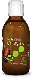 NutraSea Omega 3 Fish Oil Supplement, GMO Free Liquid Burpless Fish Oil, Chocolate, 200 mL