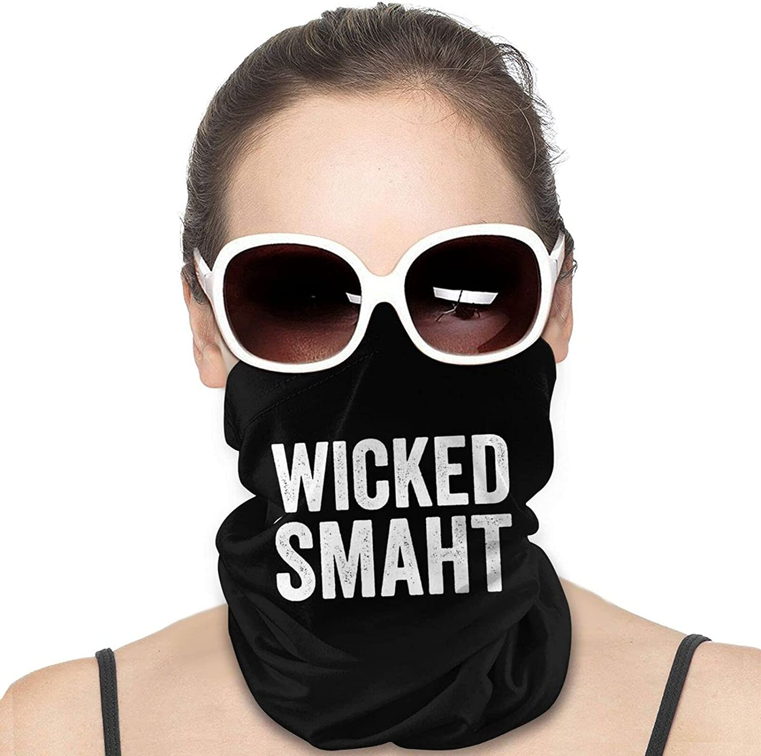Wicked Smaht Round Neck Gaiter Bandnas Face Cover Uv Protection Prevent bask in Ice Scarf Headbands Perfect for Motorcycle Cycling Running Festival Raves Outdoors