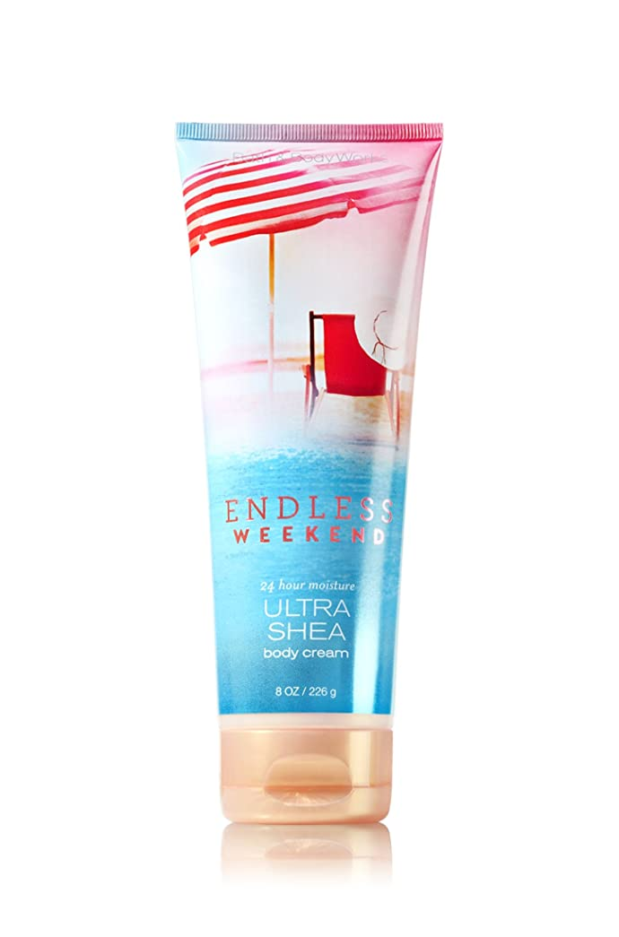 運河君主アレルギー性【Bath&Body Works/バス&ボディワークス】 ボディクリーム エンドレスウィークエンド Ultra Shea Body Cream Endless Weekend 8 oz / 226 g [並行輸入品]