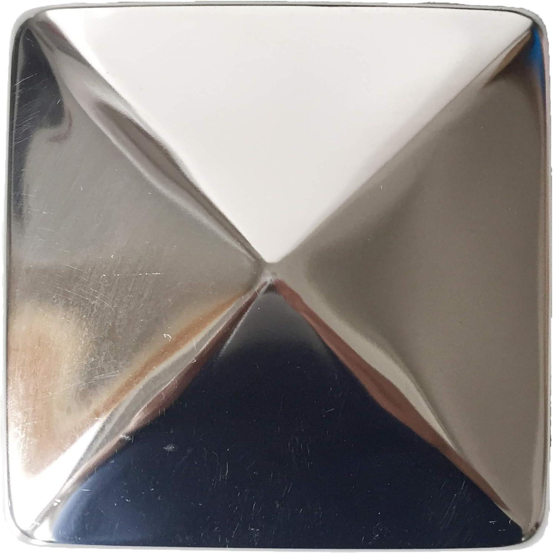 Sunload forma de pir/ámide Tapones para postes cuadrados acero inoxidable 4 unidades 101 x 101 mm