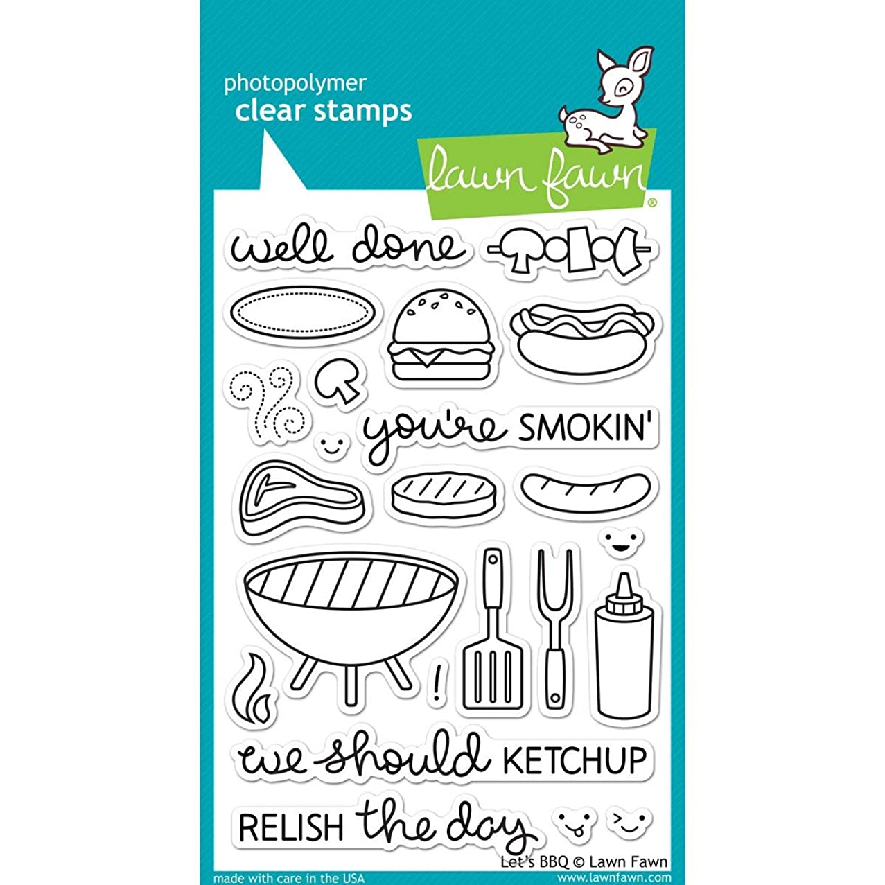 Lawn Fawn Clear Stamps - LF889 Let's BBQ