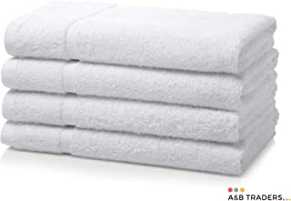 Juego de 4 toallas de mano de algodón egipcio 700gsm Extra suave o cama de matrimonio Miami de toallas de baño de alta calidad, blanco