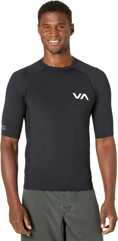 RVCA Mens Short Sleeve Rashguard