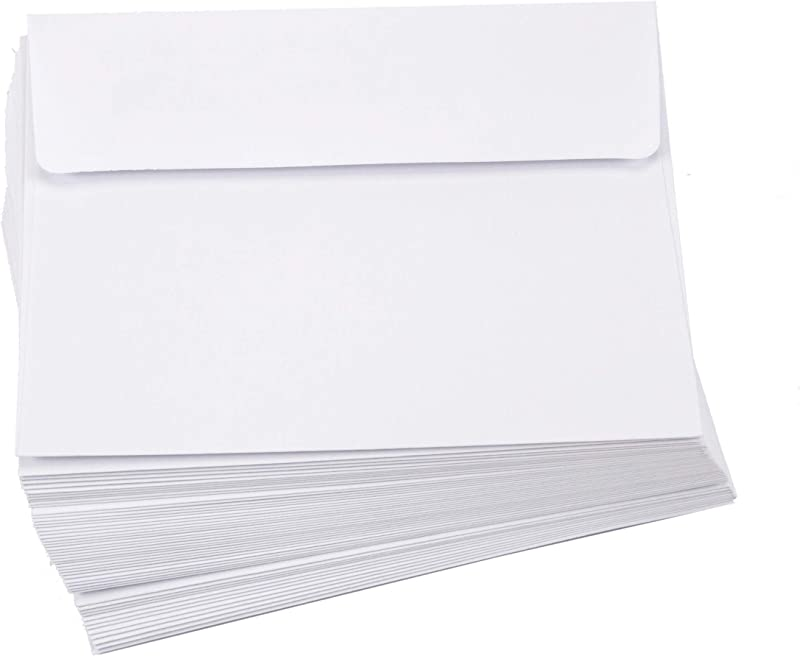 Darice Smooth A2 Envelopes 4 37 X 5 75 Inch White 50 Pack