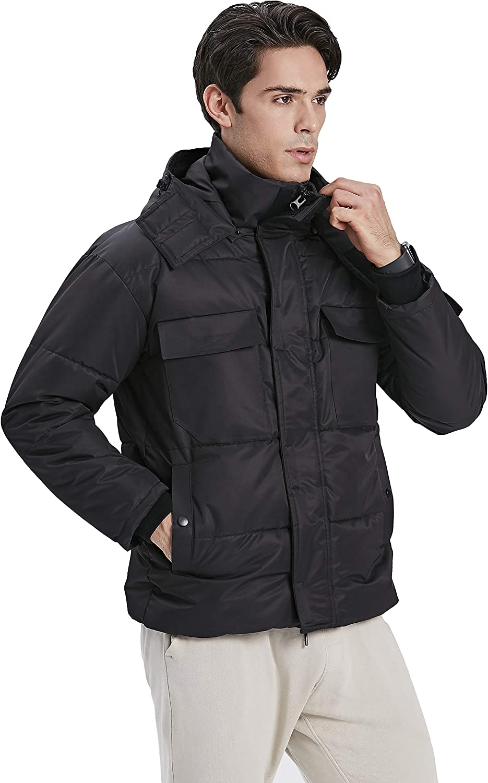 TITTALLON Men's Outdoor Jackets Hood Puffers Insulated Outwear Winter Valentine's Gifts
