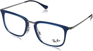Men's RX7141 Eyeglasses Trasparent Blue 50mm