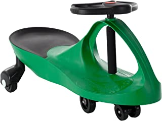 Ride On Car, No Batteries, Gears or Pedals, Uses Twist, Turn, Wiggle Movement to Steer Zigzag Car-Green, for Toddlers, Kids, 2 Years Old and Up