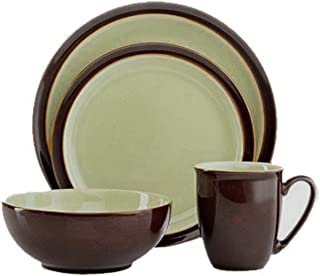 Denby DUE-100CA Duets Chestnut and Apple 4-Piece Place Setting