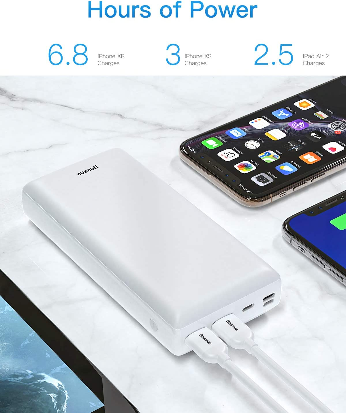 USB-C Laptops and More Samsung Galaxy Baseus 3A Fast Charging Portable Charger with 3 Speed Recharging Power Bank 30000mah Black Mac 3 Output Port Portable Charger for iPhone 11 Pro Max iPad