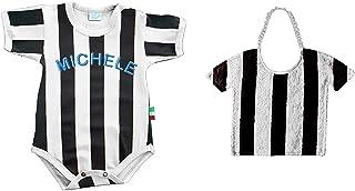 Zigozago - SET a righe bianco e nero: Body + Bavaglino