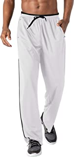 Men's Jogger Sweatpants Zipper Pockets Breathable Running...
