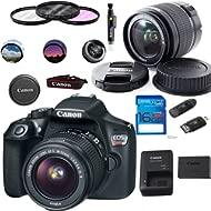 Canon EOS 1300D / T6 EF-S 18-55mm 18.7MP CMOS 5184 x 3456 Pixels (Black) + Deal-Expo Basic...
