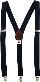 Ascentix Women's Basic Solid Color Clip-End Suspenders