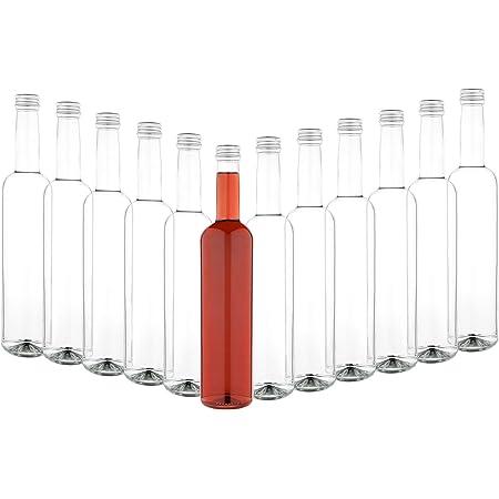 Mambocat Set Di 6 Bottiglie Di Vetro Pinta 500 Ml Tappo A Vite Argento I Riempimento Di Aceto E Olio Sciroppo Mosto Birra Succo Vino I Grandi Bottiglie Di Liquori
