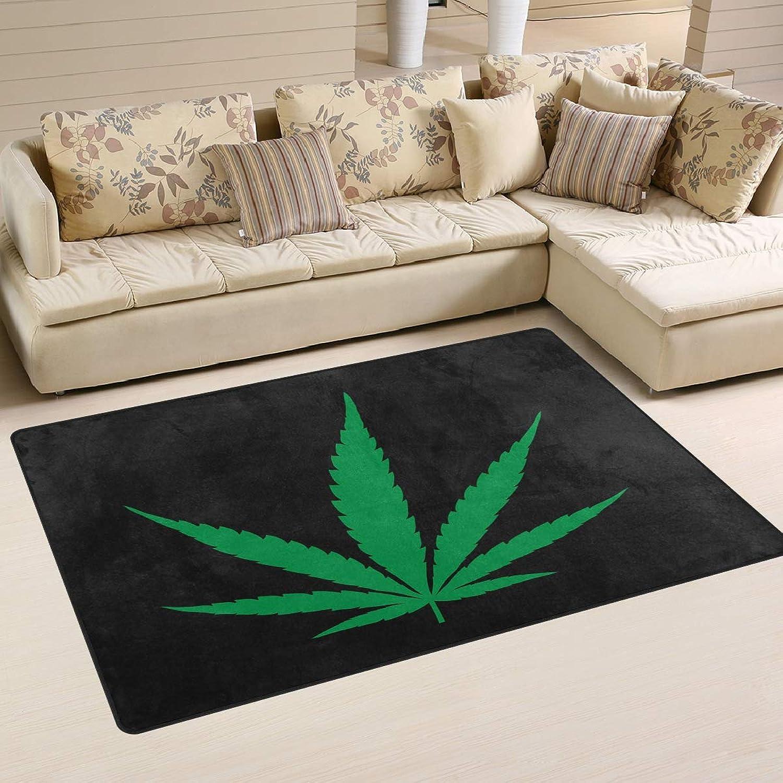 Area Rugs Carpet Doormats 60x39 inches Marijuana Leaf Symbol for Living Room Bedroom Decorative Non-Slip Floor Mat