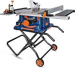 PPLAS Mesa de carpintería de 10 Pulgadas Sierra de Mesa eléctrica Herramienta eléctrica Máquina de Corte sin Polvo Sierras de Corte de Madera Multifuncional (Color : A)
