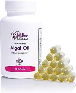 Mother Goddess Vegan Algal Oil Omega-3 Supplement   Hair, Skin, Nails, Breastfeeding, with DHA and EPA