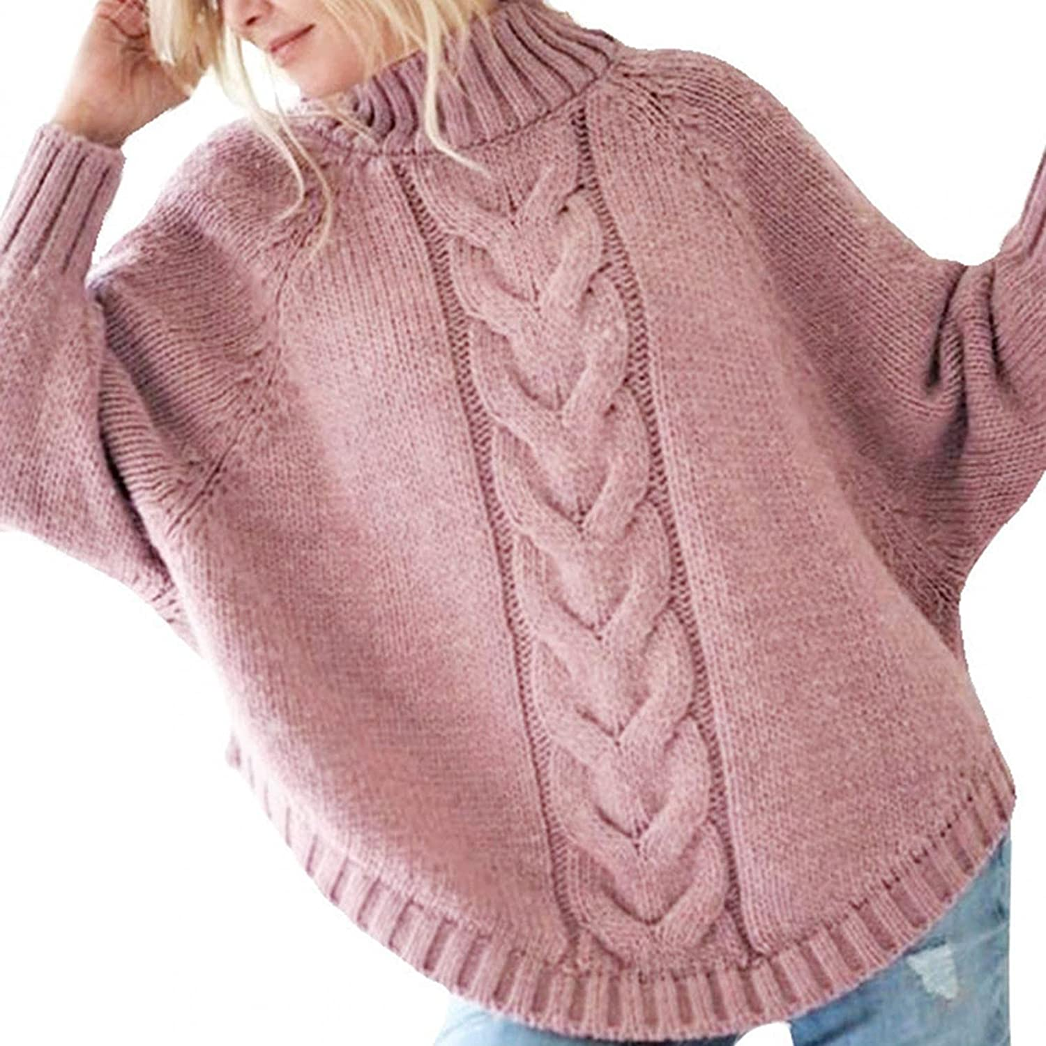Gibobby Sweaters for Women Casual,Womens Oversized Sweaters Long Batwing Sleeve Loose O Neck Tops Pullover Knit Blouses
