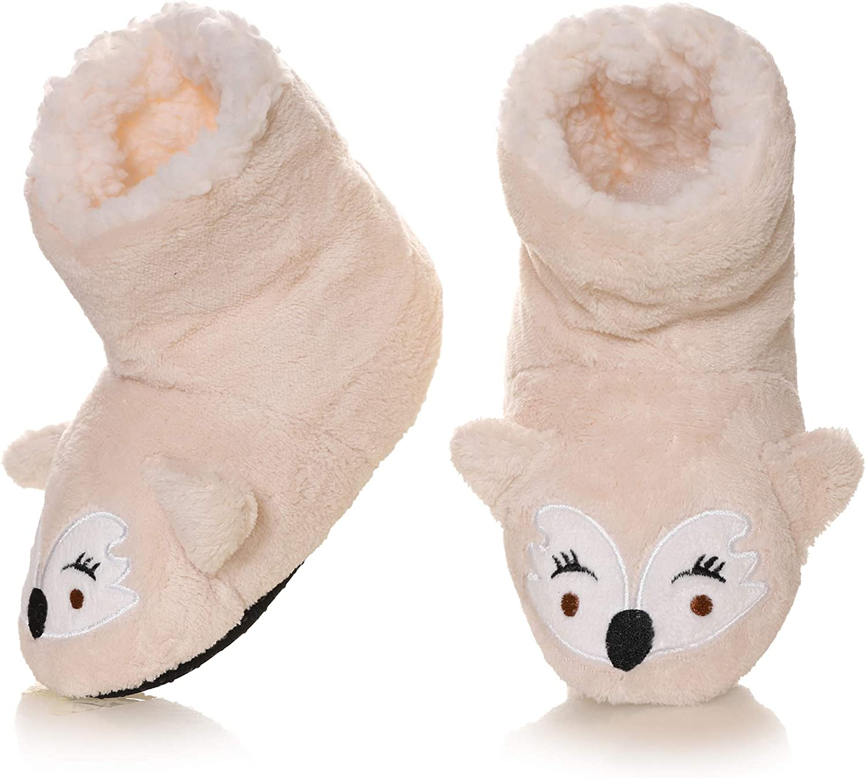 Kids Boy Girl Animal House Slipper Warm Soft Plush Non-Sk Award 35% OFF Winter