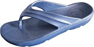 Pure Stride Flip Flops for Men Women- Thong Sandal for Orthotic Plantar Fasciitis Arch Support Navy