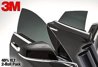 3M 40% VLT Medium Dark Smoke Black Car Window Tint Vinyl Wrap Roll (29 Inch x 48 Inch 2 Roll Pack)
