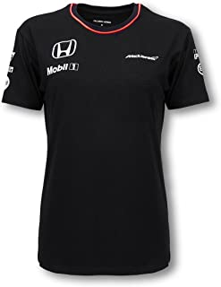 Honda MCLAREN Black Team T-Shirt Ladies 2016 Replica