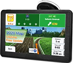 GPS Navigation for Car Truck, Latest 2020 Map 7 Inch Touchscreen 8G 256M Navigation System with Voice Navigation System, Free Upgrade Map for a Lifetime.