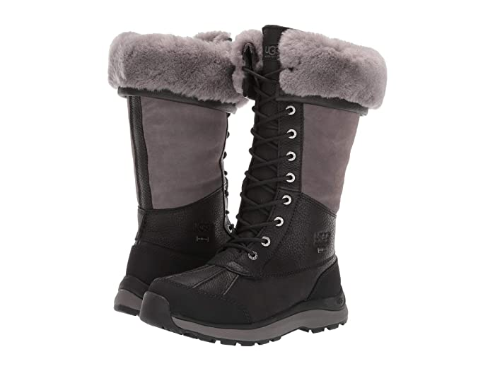UGG  Adirondack Tall Boot III (Black) Womens Lace-up Boots