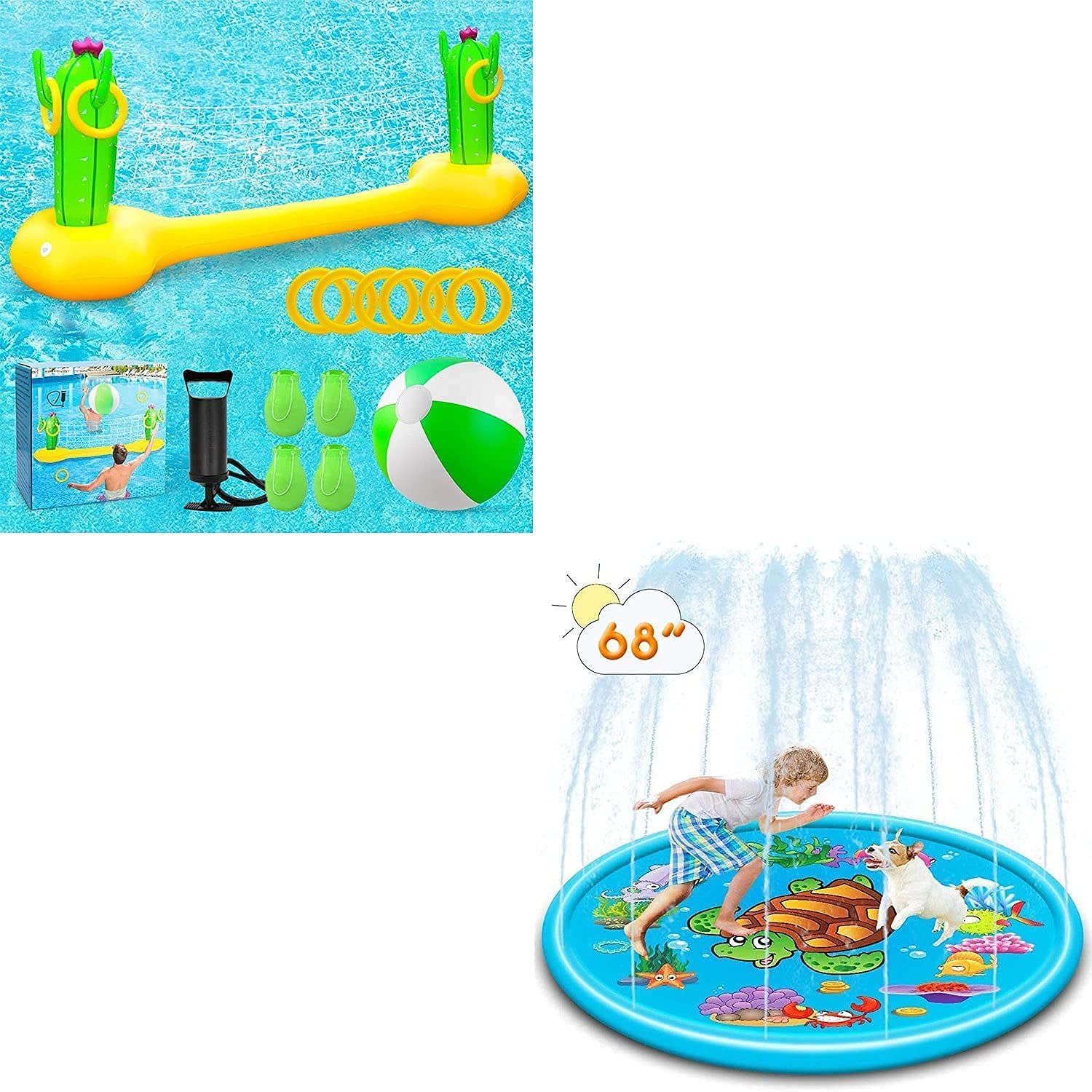 X XBEN Inflatable Pool Volleyball Game with Floa Brand Cheap Sale Venue Toss supreme Ring