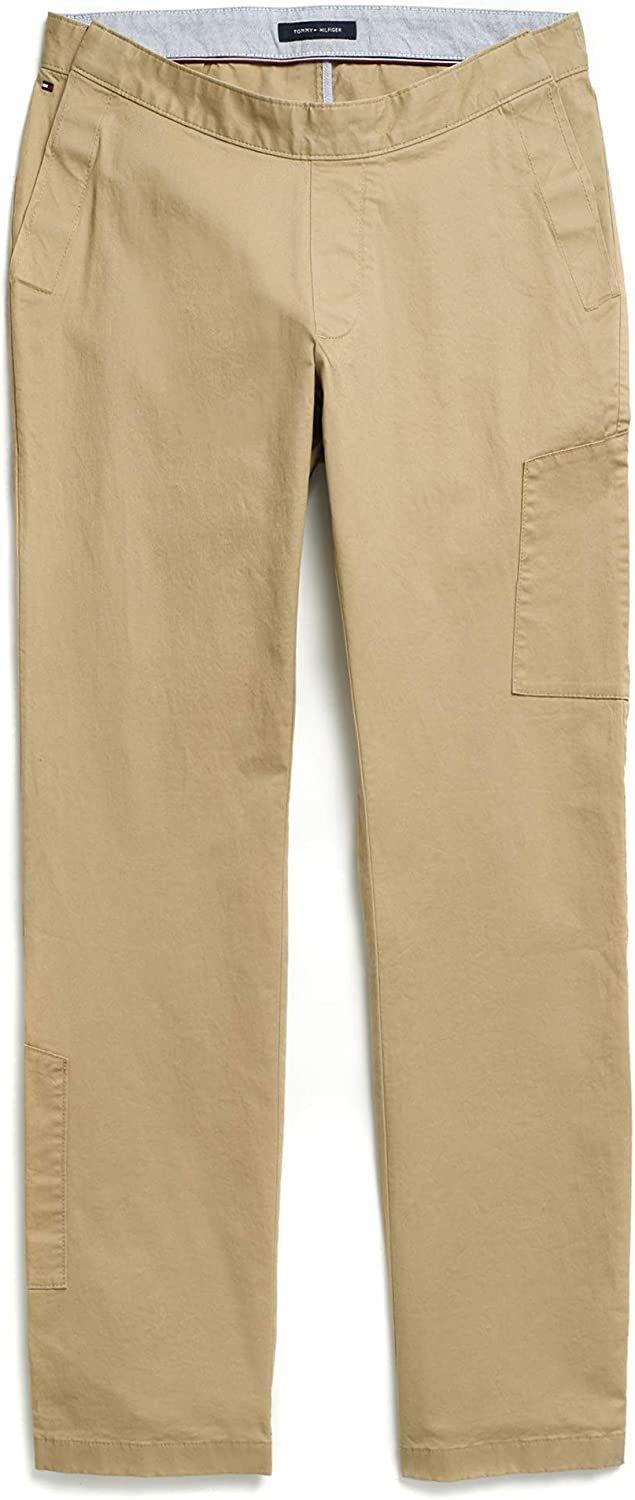 Tommy Hilfiger Men's Adaptive Seated Fit Chino Pants With Elastic Waist and Adjustable Closure