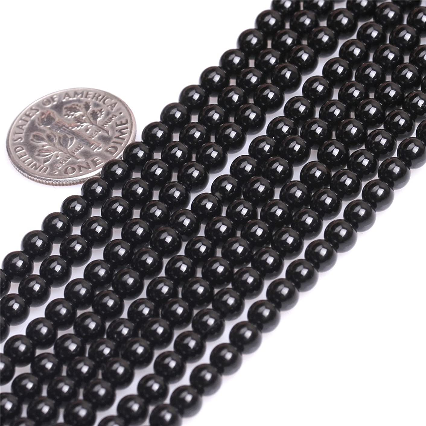 Black Agate Beads for Jewelry Making Natural Gemstone Semi Precious 4mm Round 15