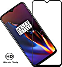 Aeidess Tempered Glass for OnePlus 6T / OnePlus 7 (Black)-Edge to Edge Full Screen Coverage