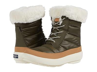 Sperry Bearing PlushWave Boots Nylon (Olive/Tan) Women