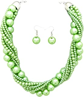 lime green prom jewelry