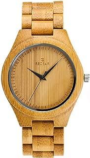木製腕時計 ウッド シンプル 河野太郎と同じスタイルの竹腕時計 日本製 Citizenクオーツ (ゴールド)