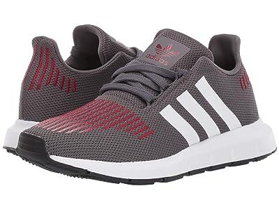 adidas Originals Kids Swift Run (Big Kid) (Grey/White/Black) Boys Shoes